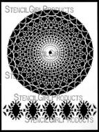 30 Point Mandala with Border 9 inch by 12 inch Stencil (L537) by Kristie Taylor for StencilGirl