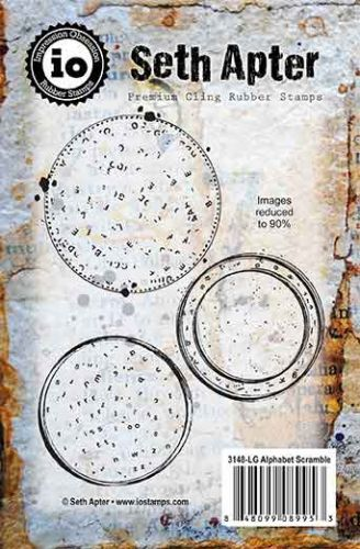 Alphabet Scramble Cling Rubber Stamps by Seth Apter