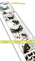 8 labels : Butterflies by Alexi for Carabelle Studio (SED0043) - Cling Stamp Edge