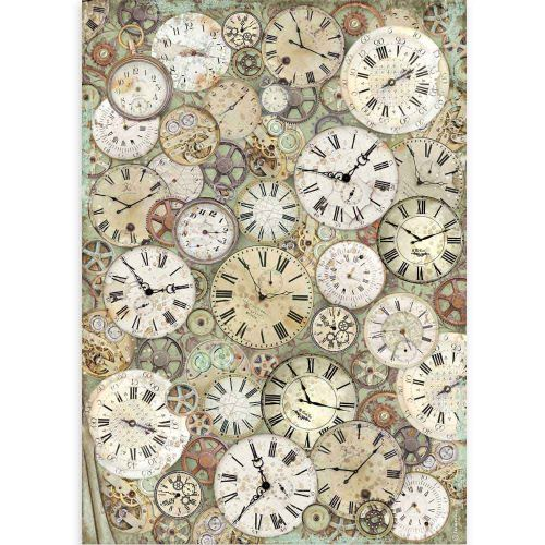 A3 Rice paper packed Lady Vagabond clock and Stamperia (DFSA3084)