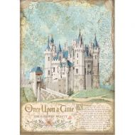 A4 Rice paper packed - Sleeping Beauty castle by Stamperia (DFSA4569)
