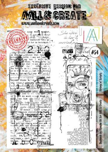 No. 54 Aall and Create A4 Stamp Set by Bipasha (BK)