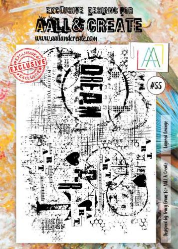 No. 55 Aall and Create A4 Stamp Set by Tracy Evans