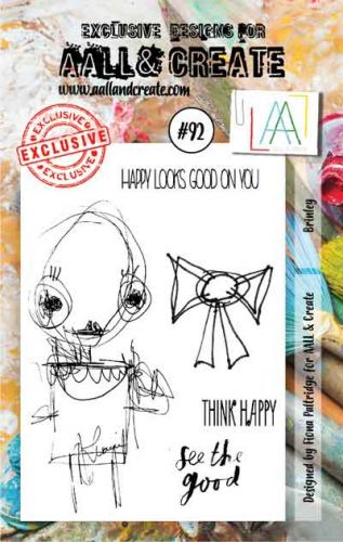 No. 92 Aall and Create Brinley A7 Stamp Set by Fiona Paltridge