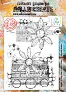 No. 109 Blossomed Numbers Aall and Create Stamp Set (A4)