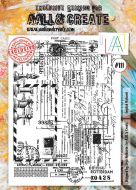 No. 111 English Postcard Aall and Create Stamp Set (A4)