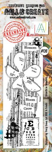 No. 120 Growth in Numbers Aall and Create Stamp Set Border Stamp Set