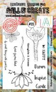 No. 123 Blossomed Dreams Aall and Create Stamp Set (A6)