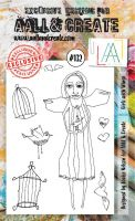 No. 132 Girlz with Wingz Aall and Create Stamp Set (A6)
