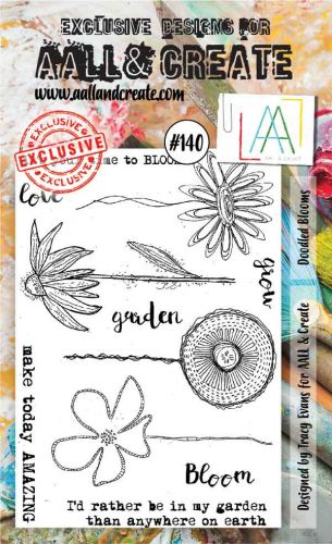Doodled Blooms No. 140 Aall and Create Stamp Set (A6)