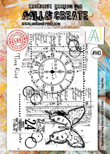 Times Flies No. 143 Aall and Create Stamp Set (A4)
