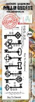 No. 148 Numbered Keys Aall and Create Border Stamp Set