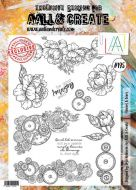 No. 195 Flowers and Gears Aall and Create Stamp Set (A4) - AAL00195