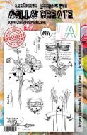 No. 197 Scripted Botanicals Aall and Create Stamp Set (A5) - AAL00197