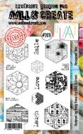 No. 208 Hexagonal Tiles Aall and Create Stamp Set (A6) - AAL00208