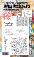 No. 211 Count on You Aall and Create Stamp Set (A6) - AAL00211