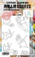 No. 214 Bunnies Aall and Create Stamp Set (A6) - AAL00214