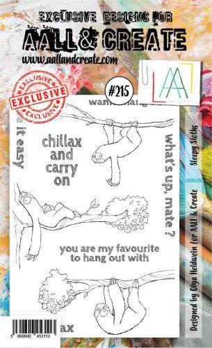 No. 215 Sleepy Sloths Aall and Create Stamp Set (A6) - AAL00215