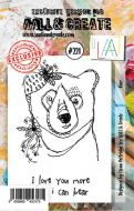 No. 221 Bear Aall and Create Stamp Set (A7) - AAL00221