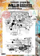 No. 227 Masculine Miscellaneous Aall and Create Stamp Set (A4) by Bipasha BK- AAL00227