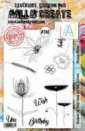No. 240 Blossom Wishes Aall and Create Stamp Set (A5) - AAL00240