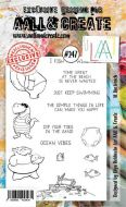 No. 247 At the Beach Aall and Create Stamp Set (A6) - AAL00247