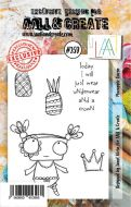 No. 259 Pineapple Queen Aall and Create Stamp Set (A7) - AAL00259