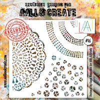 No. 16 Aall and Create Stencil - 6 in by 6 in (15cm by 15cm)