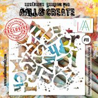 No. 18 Aall and Create Stencil - 6 in by 6 in (15cm by 15cm)