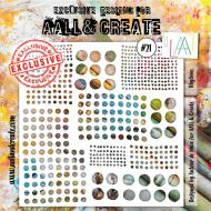 Rythyms - No. 21 Aall and Create Stencil - 6 in by 6 in (15cm by 15cm)