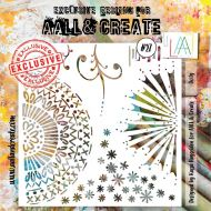No. 27 Doily Aall and Create Stencil - 6 in by 6 in (15cm by 15cm)