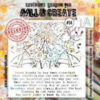 Life Harmony No. 34 Aall and Create Stencil - 6 in by 6 in (15cm by 15cm)