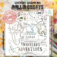 Adventure Map - No. 40 Aall and Create Stencil - 6 in by 6 in (15cm by 15cm)