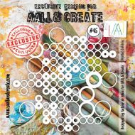 Digital Bubbles - No. 45 Aall and Create Stencil - 6 in by 6 in (15cm by 15cm)