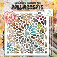 Barbary Stars - No. 56 Aall and Create Stencil - 6 in by 6 in (15cm by 15cm)
