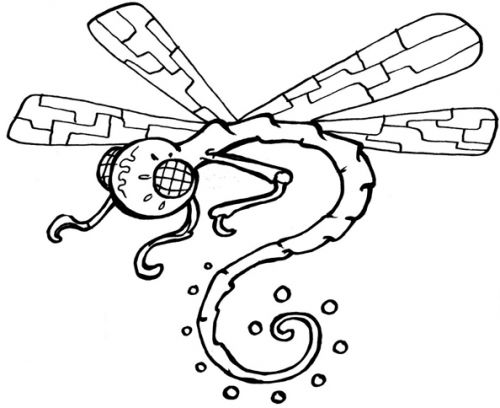 Crafty Stamps - Dragonfly - AN104HF