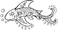Crafty Stamps - Fish - AN106B