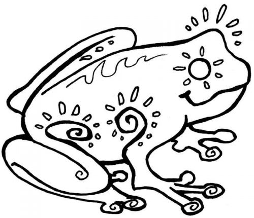 Crafty Stamps - Frog - AN108D