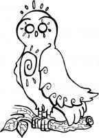Crafty Stamps - Owl 1 - AN110HF