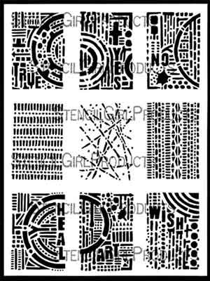 ATC Mixup Apter #2 (L750) designed by Seth Apter for Stencil Girl (9 inch by 12 inch)