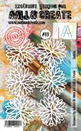 No. 89 Dahlias Stencil (A6) by Autour De Mwa for Aall and Create