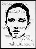 Abigail, A Timeless Woman 9 inch by 12 inch Stencil (L251) by Andrea Matus deMeng for StencilGirl