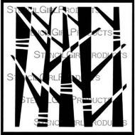Abstract Forest Stencil (S873) designed by Lucie Duclos for StencilGirl (6 inch by 6 inch)