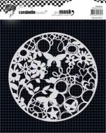Abstract Print (MARO60001) Mask Round 6'' - Carabelle Studio