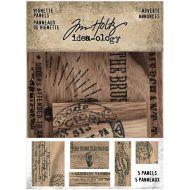 Expected approx 23 April Adverts Wooden Vignette Panels 5 Pk Tim Holtz Idea-Ology (TH94124)