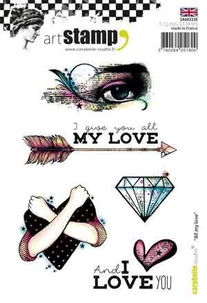 All my love A6 Cling Stamp by Carabelle Studio (SA60323E)