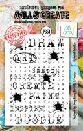 351 Alphabet Splatter Aall and Create A7 Stamp