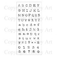 Alphabet Hobby Art Clear Stamp Set (CS076D)