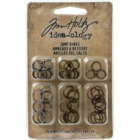 Antique Nickel Brass Copper IdeaOlogy Metal Jump Rings 8mm and 10mm (75 pack)
