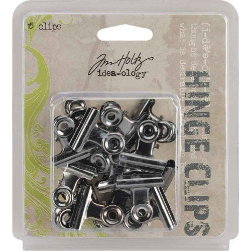Antique Nickel IdeaOlogy Metal Hinge Clips 1 inch (15 pack)